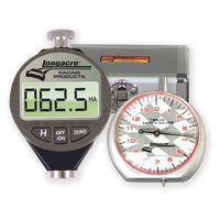LON50557. Digital durometer & dial. Tread depth gauge, comes with a silver case.