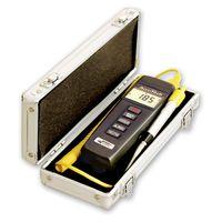 LON50640. Accutech Delux digital Pryometer, in a silver case.